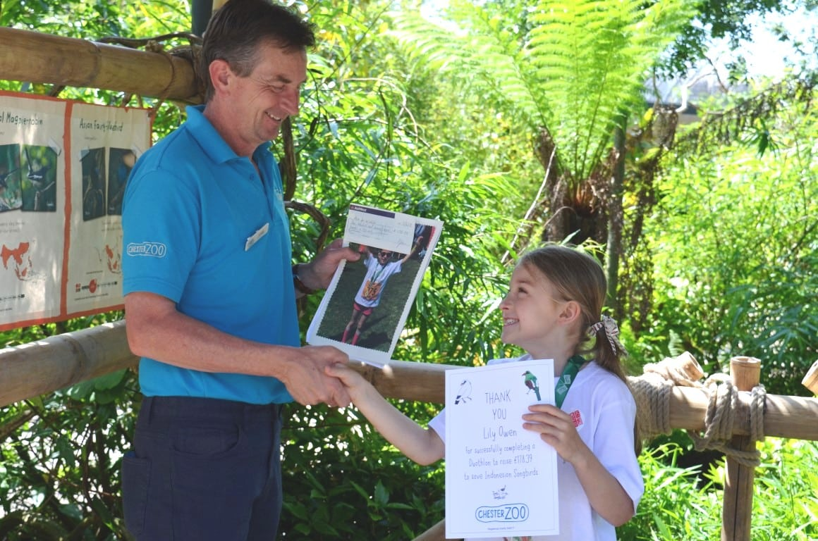 Lily Owen Duathlon Fundraising for Songbirds
