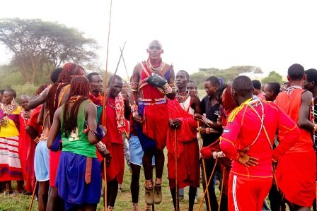 Maasai Olympics taking place in Kenya