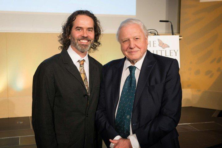 Arnaud Desbiez meeting David Attenborough at Whitley Awards 2015