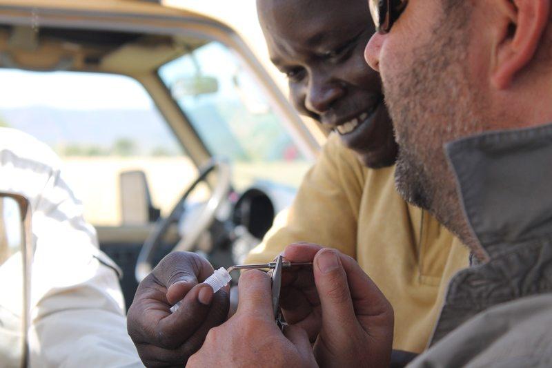 Close up of field team in Uganda