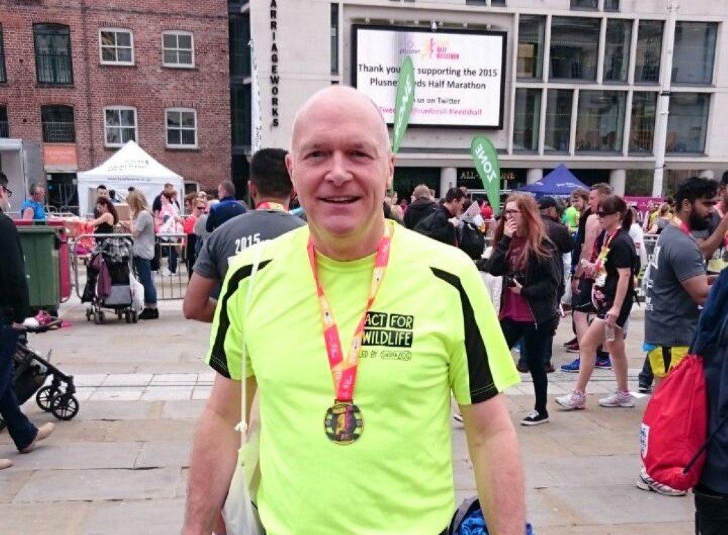 Dave Edwards medal Leeds Half Marathon 10.05.15