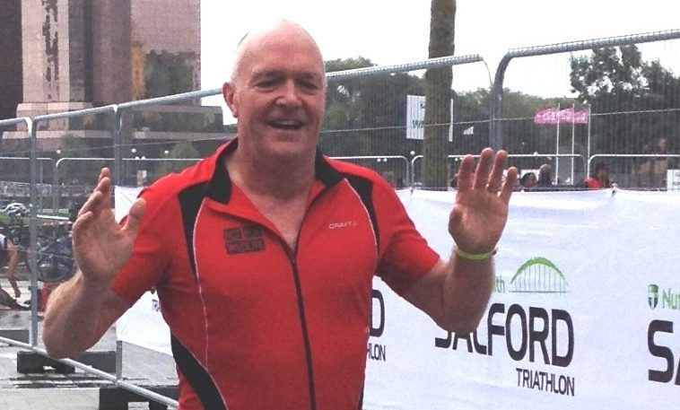 At the Salford Tri finish line