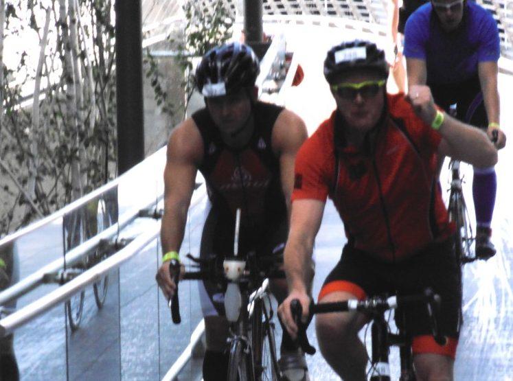 Cycling for wildlife at Salford Triathlon