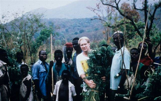 Gordon Reid on one of the first expeditions to Nigeria in 1994
