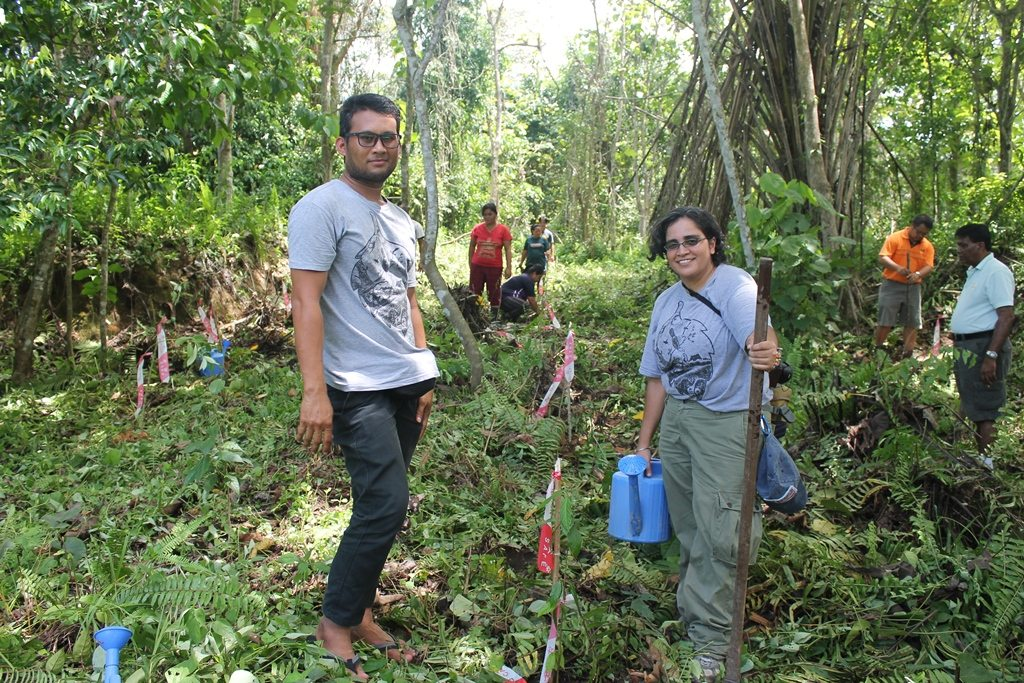 HUTAN team working with local people in the forest