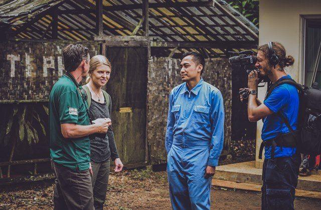 Cikananga conservation breeding centre BBC filming