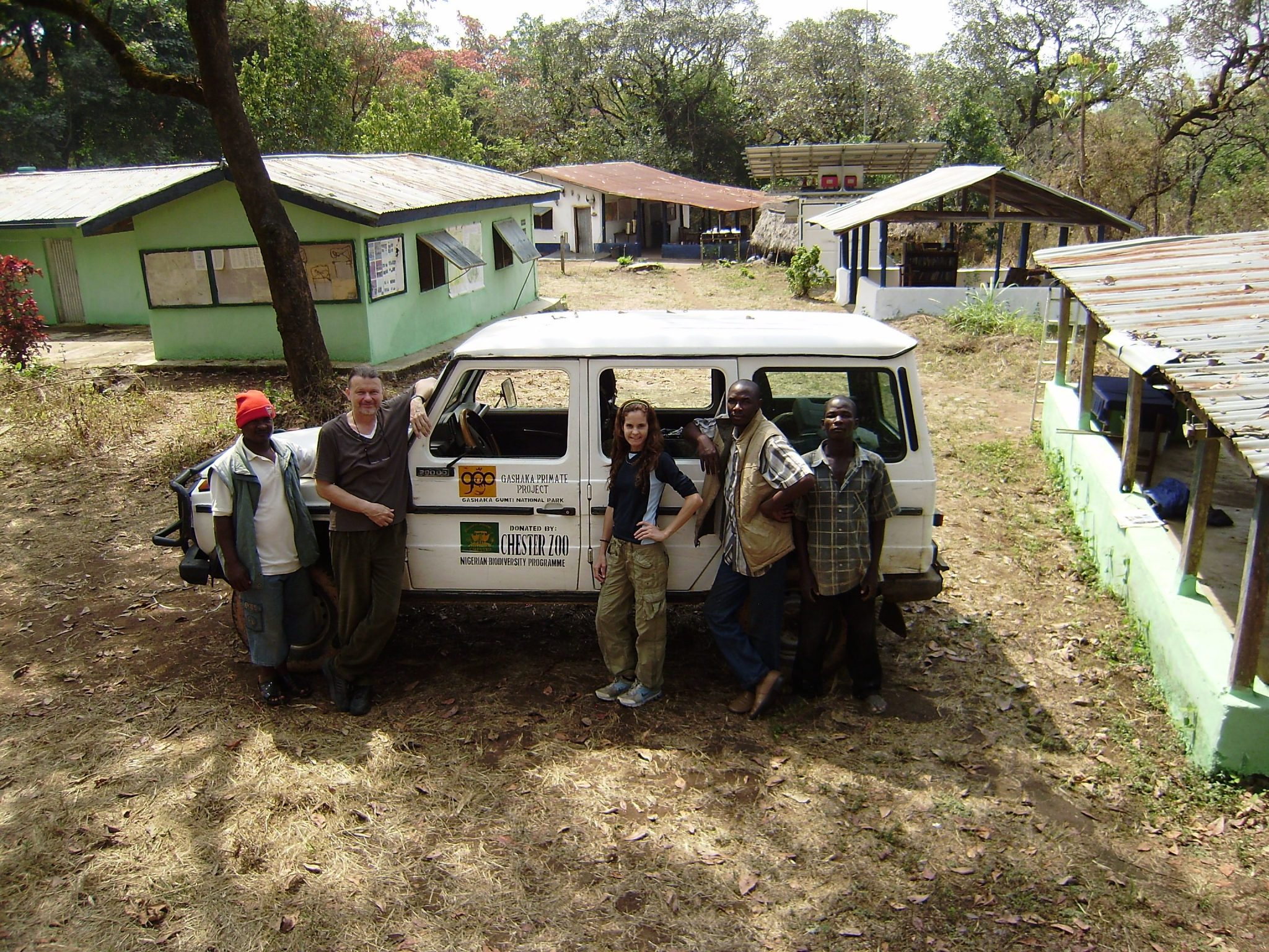 Chester Zoo staff in Nigeria with project team, Africa, Nigeria