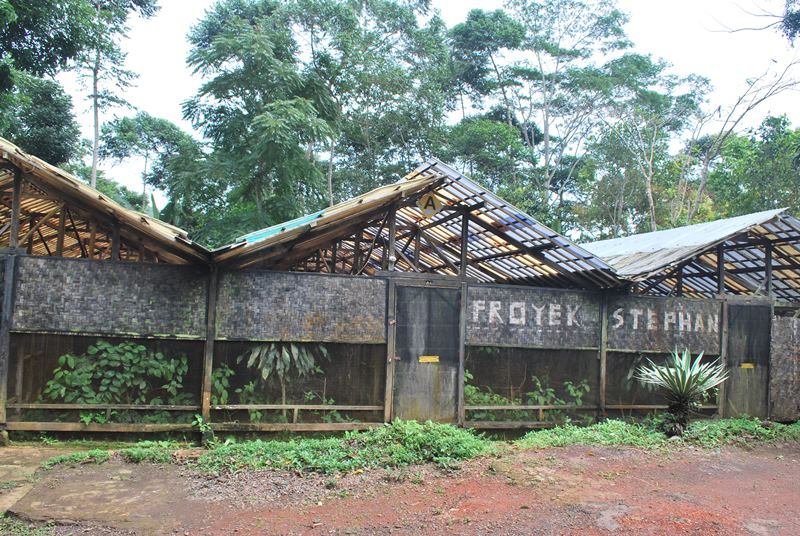 Old aviary at Cikananga