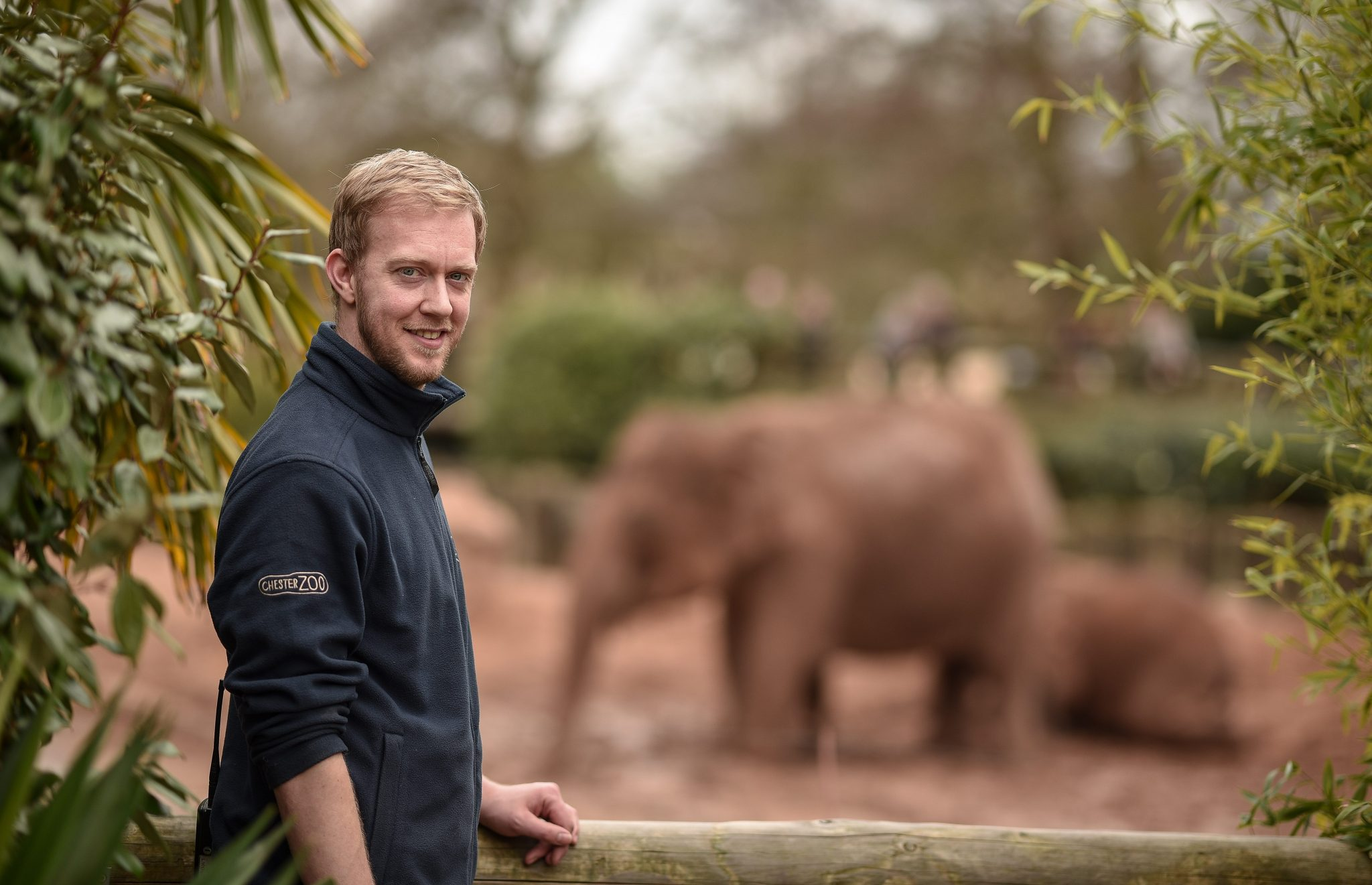 Richard Fraser, elephant keeper