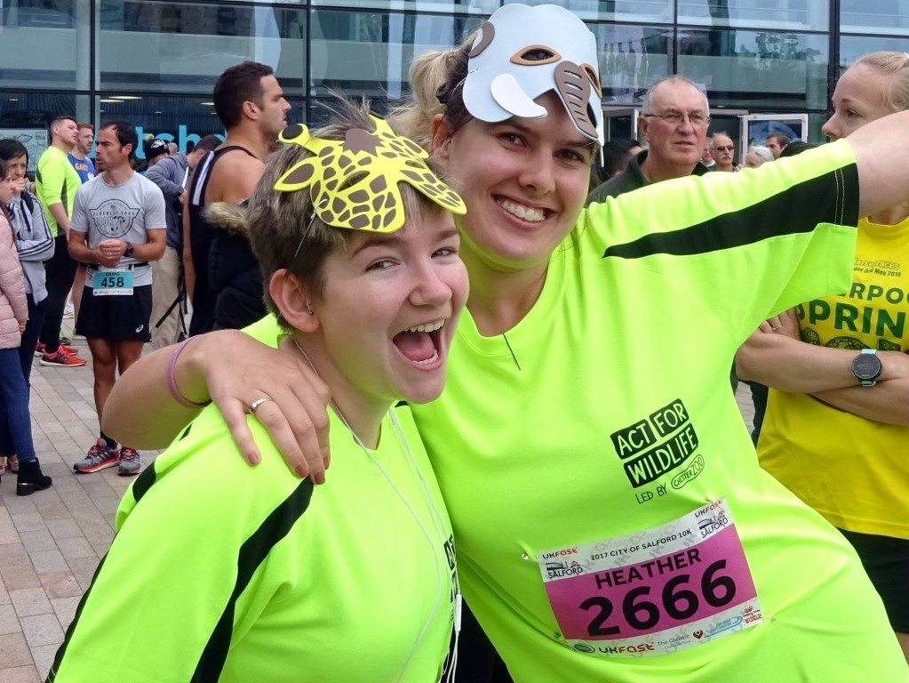 Challenge: Salford 10K 03.09.17 - Lydia and Heather