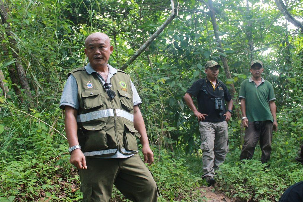 HUTAN warden Azri in the rainforest in Borneo