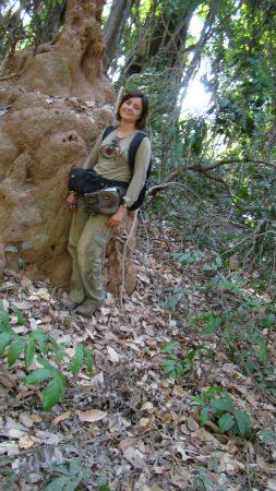 Maria in the field. Photo credit: Maria da Silva