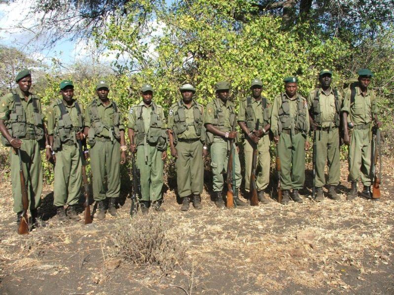 Rhino rangers in Africa