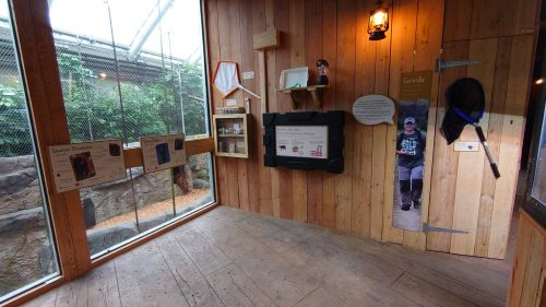 An entire wall was dedicated to telling the stories of our fish, reptiles, invertebrates and amphibians