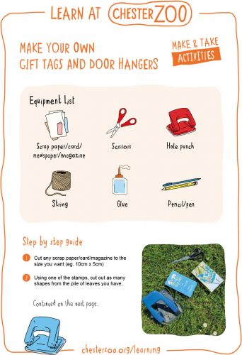 Image of the make your own gift tags resource, page 1.